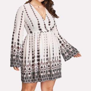 NEVER WORN: Geo print wrap dress